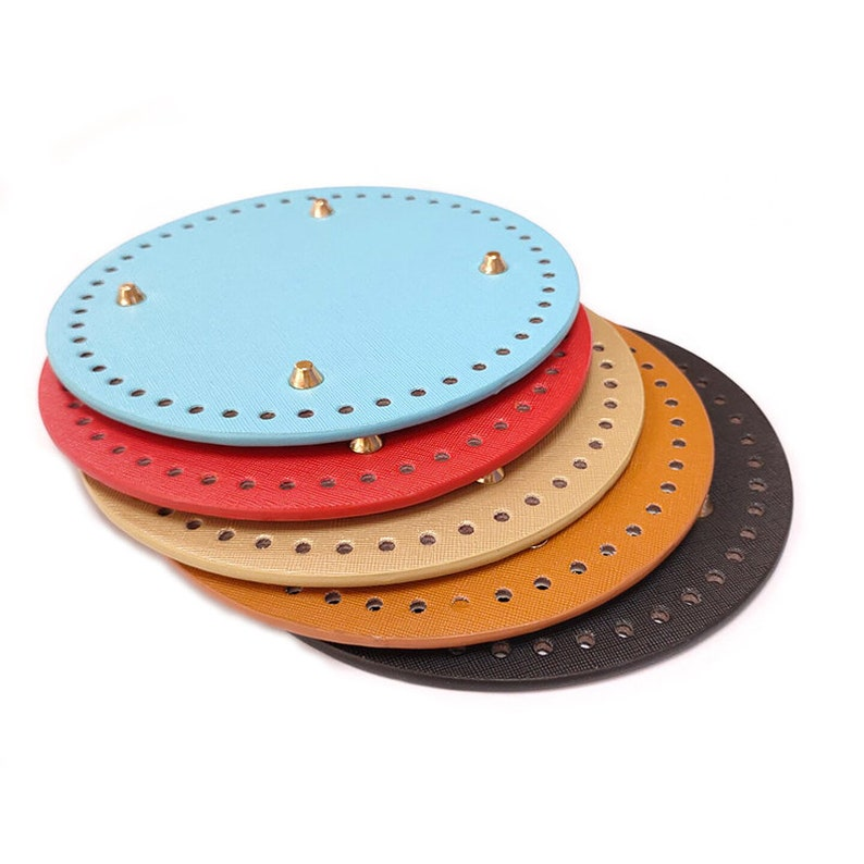18mm Base Shaper Round Base Shaper Purse Base Shaper Bottom Board For Bag Purse Supplies Handmade Craft Bottom Support DIY Soft Edges Pink