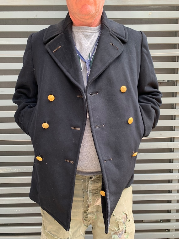 Men's Vintage USN Pea Coat