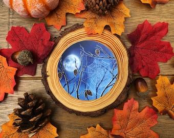 November Frost Moon Vinyl Sticker