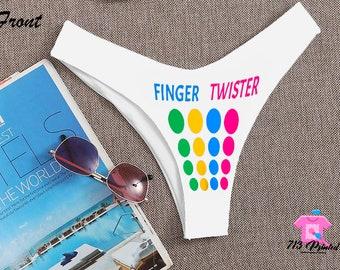 wife sex hotwife cuckold adult knickers panties Slut Logo printed HOTPANTS swingers fetish