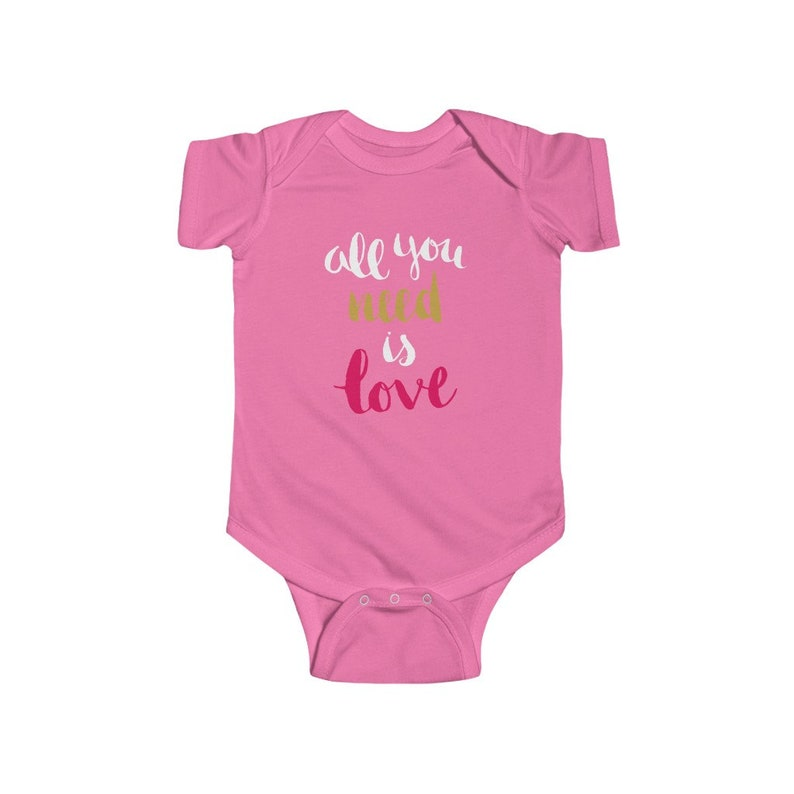 All You Need Is Love Infant Fine Jersey Bodysuit
