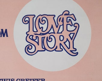 Love Story Music Sheet. Theme from the film Love Story 1967 Johnny Pearson. New World Music Ltd. London Mayfair(A)