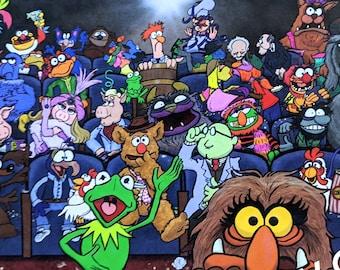 UzzyWorks The Muppet Movie Theater Art Print by Justin H Piatt. Jim Henson, Kermit the Frog