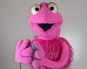 """UzzyWorks Professional  Pink Abstract Practice Puppet. Handmade by Justin H Piatt. Hand and rod """"Muppet-Style"""""""