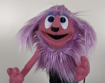 """UzzyWorks Professional Dog Puppet. Handmade by Justin H Piatt. Hand and rod """"Muppet-Style"""""""