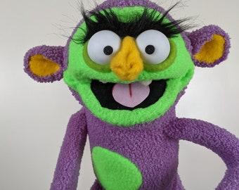 "UzzyWorks Professional Monkey-Ogre Puppet. Handmade by Justin H Piatt. Hand And Rod ""Muppet-Style"""