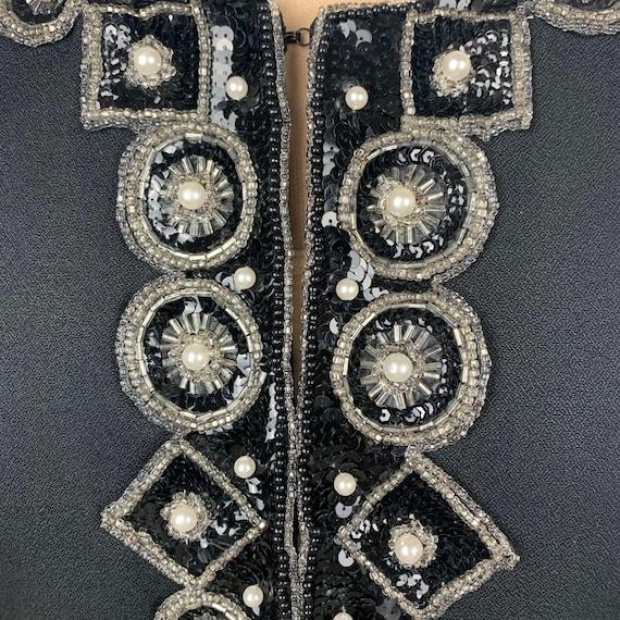 Vintage Bolero Cropped Beaded Sequined Jacket - image 5