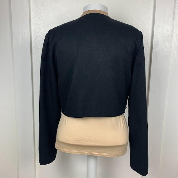 Vintage Bolero Cropped Beaded Sequined Jacket - image 3