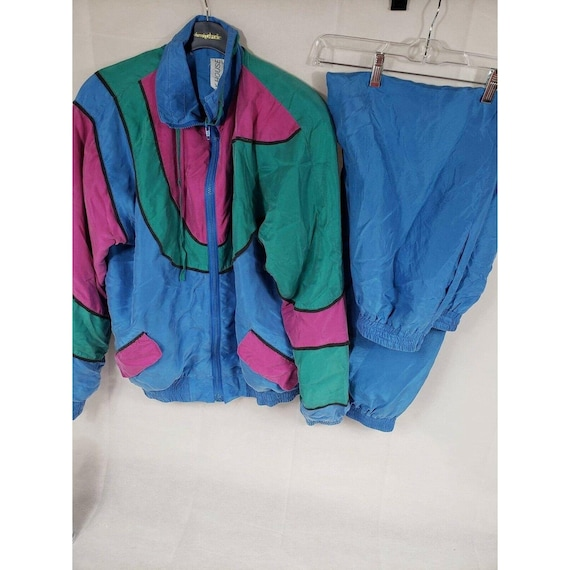 Blue, Green, Pink Windbreaker 2 pc 100% Silk – Sil