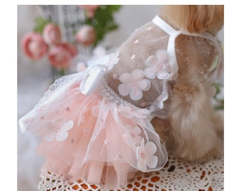 Summer Cat Dog Wedding Dress Bridesmaid Costume Birthday Holiday Fancy Princess Outfit Puppy Doggy Chihuahua Kitten Bunny Pet Party Gown