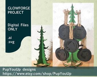Craft Show Christmas Tree Ornament Display - DIGITAL FILE Made for Glowforge