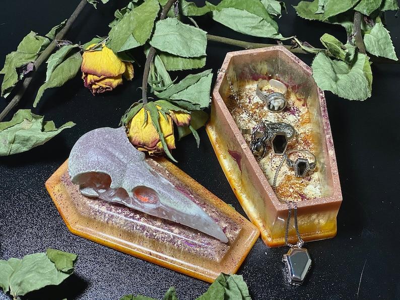 The Raven Coffin Box