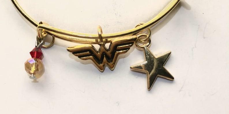 Wonder Woman Inspired Bangle Bracelet
