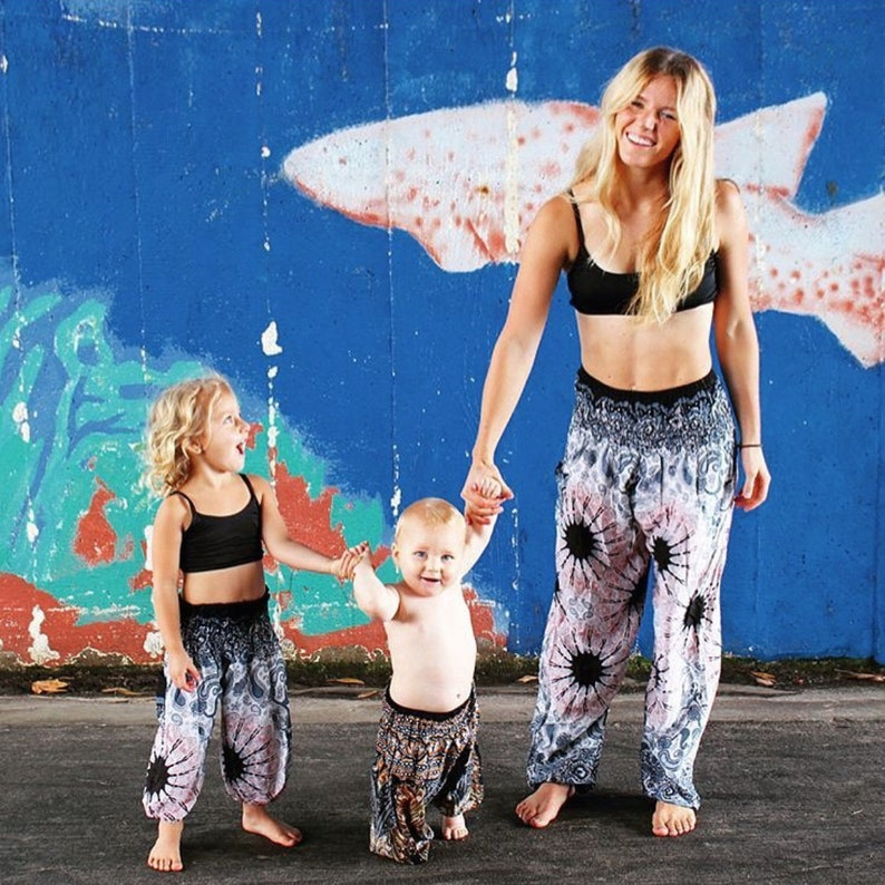 Women Girls Pajama Pants Mommy and Me Matching Pants Mother