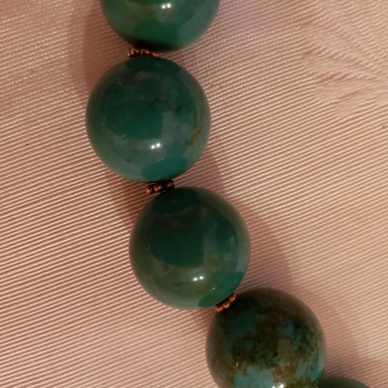 Turquoise bold gold toggle large stone necklace
