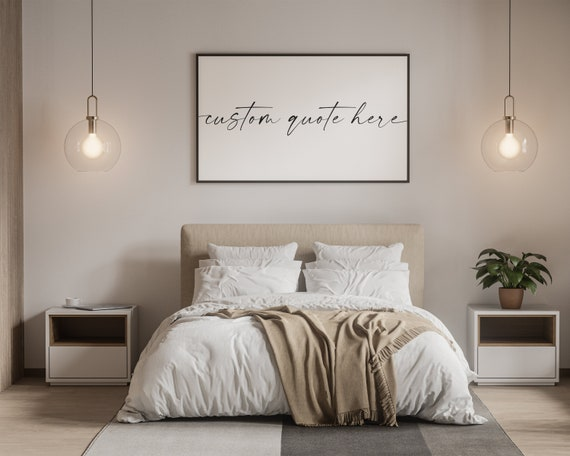 Master Bedroom Signs Over Bed Wall Decor Etsy