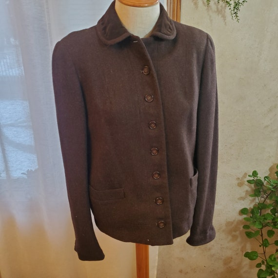 Vintage Peter Pan Collar women's wool coat