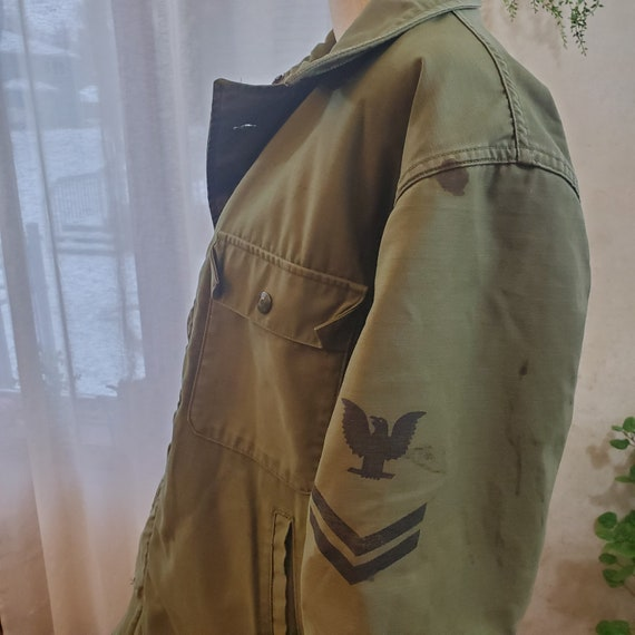 Vintage Lined Military Style Jacket