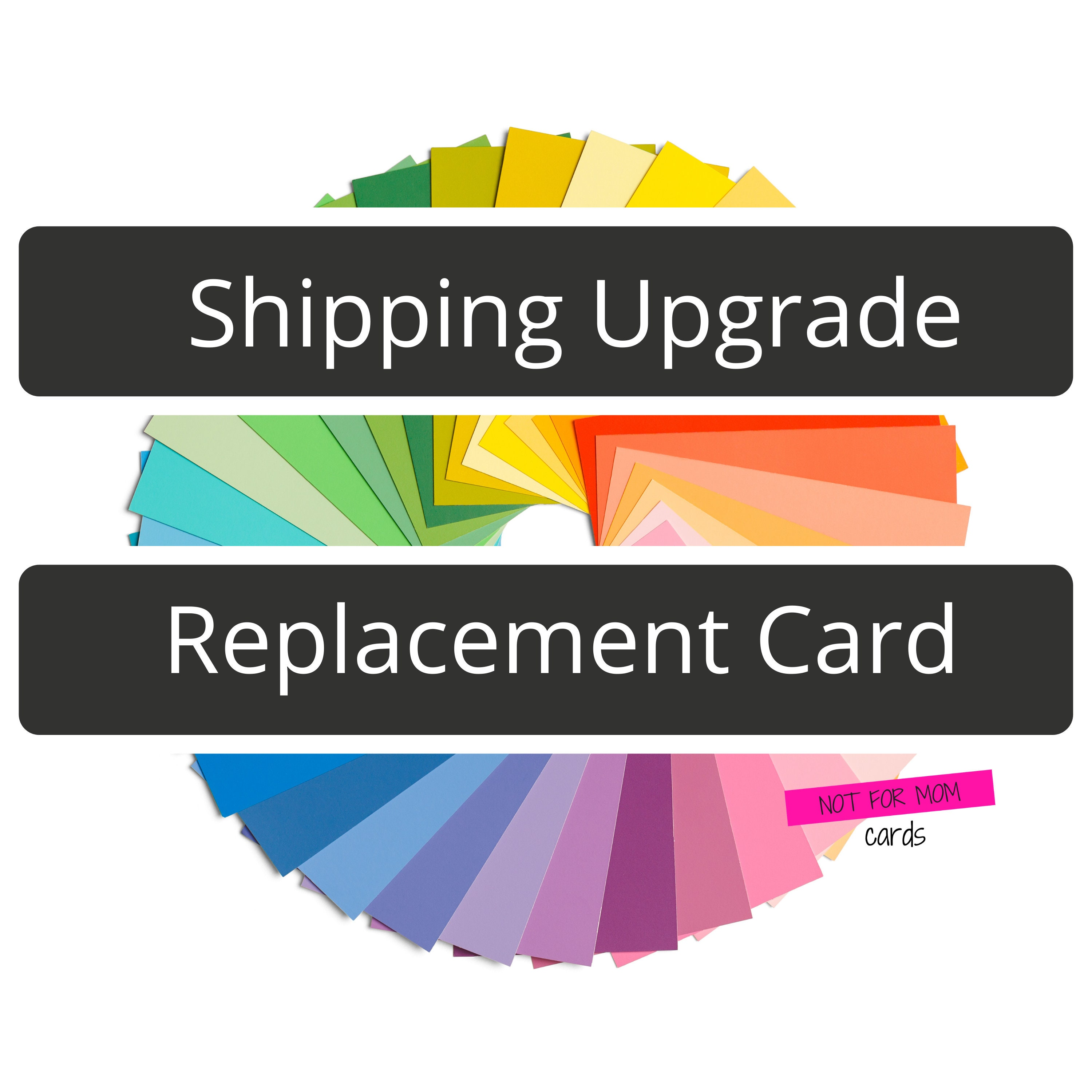 Shipping Upgrade or Replacement Card | Etsy
