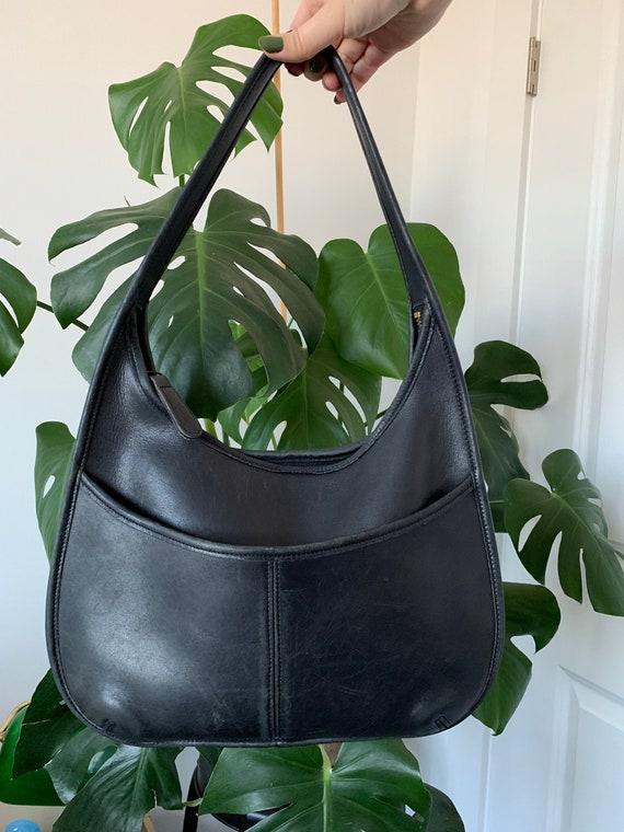 Vintage Coach Ergo Black Leather Hobo Bag #9033