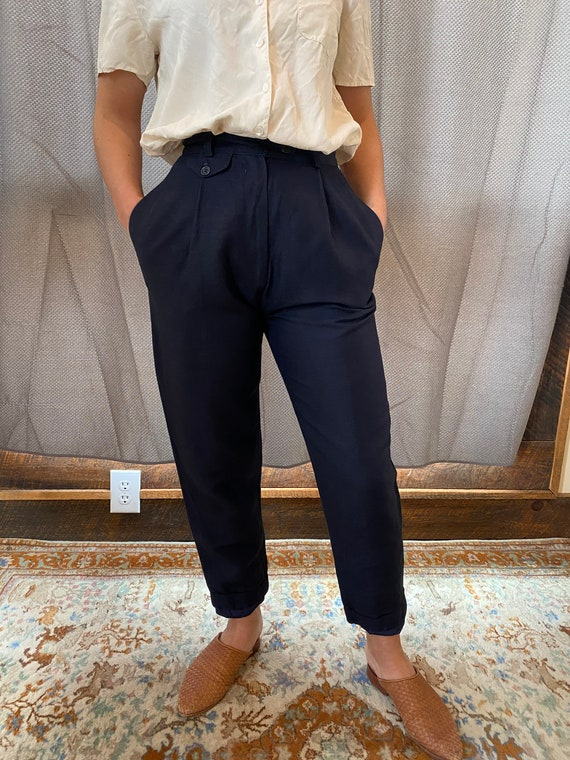Vtg Giorgio Sant Angelo Navy blue pants
