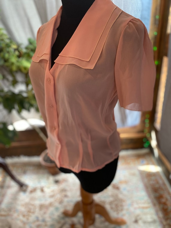 Dusty Rose Vtg Blouse