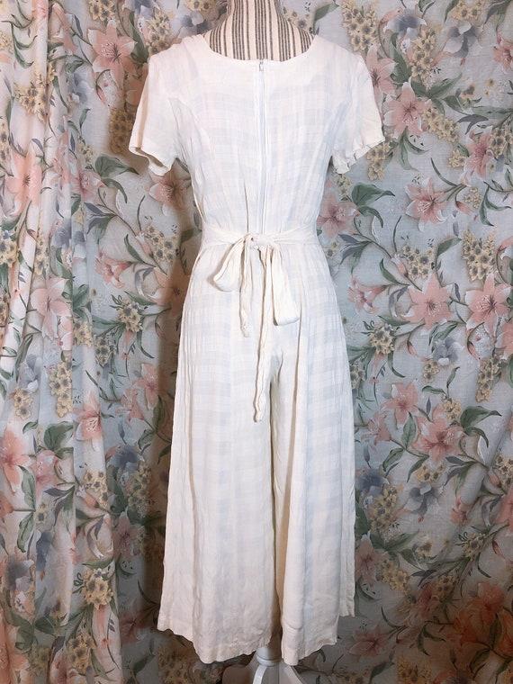 Vintage 1990s Beach Pajamas Style Jumpsuit - image 5