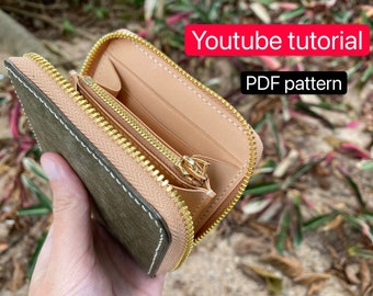 BUNDLE PACKAGE PDF sewing patterns-Classic Zip Around WalletMini walletaccordion zipper pocketcell phone pouch