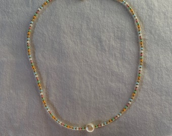 Alissa necklace / pearl necklace with freshwater pearls