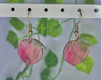 Soft Aesthetic Y2K Lesbian Earrings Fun Earrings Unusual Quirky Cute Funny Kawaii Rainbow Boba  Bubble Tea Hook Earrings