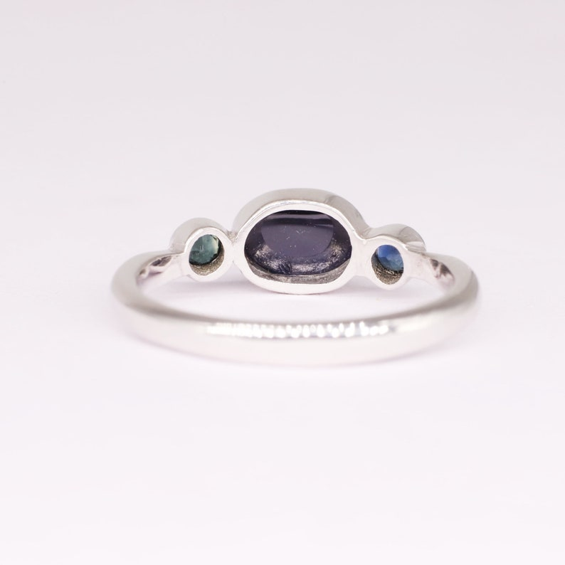 Blue Sapphire Ring 925 Sterling Silver Ring September Birthstone Oval Sapphire Ring Engagement Ring Sapphire Ring handcrafted Ring