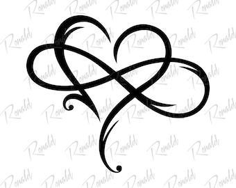 Infinity Heart Svg Etsy