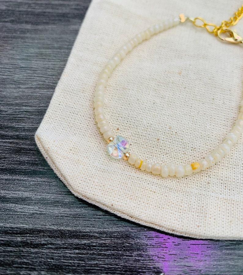 Gold bracelet Simple crystal bracelet Gift for teen Gift for kids Gift for her