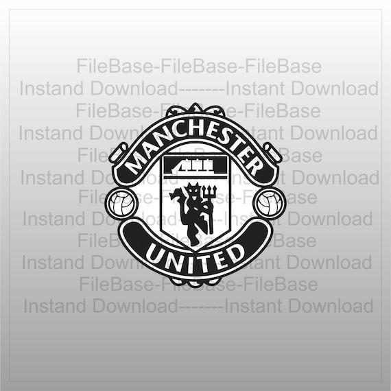 manchester unitedmanchester united logosvgpdfepspngdxf etsy etsy