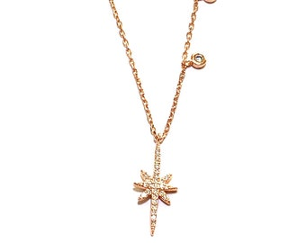 ROSE GOLD Vermeil Sterling Silver 925 Amethyst pendant Boho Jewelry,Geometric LIGHTWORKER jewellery Crystal Pendant,Jewellery Gift for Her