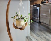 Hanging plant stand, plant stand, plant basket, boho, wood plant stand, woodandsoil, plants, planter, plant shelf, plant stool, home decor