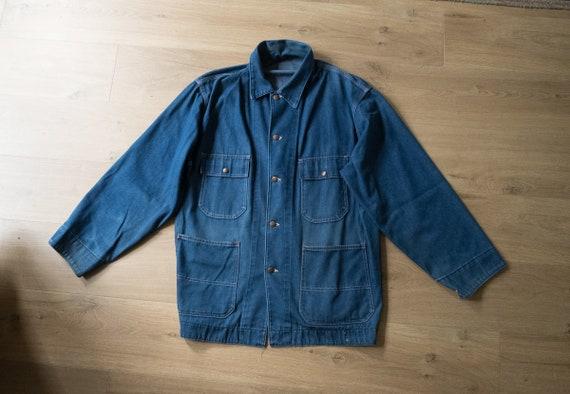 Vintage 1950s Big Back Denim Chore Coat XL