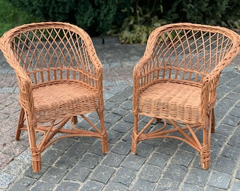 Wicker chair for children, armchair for children, armchair for children
