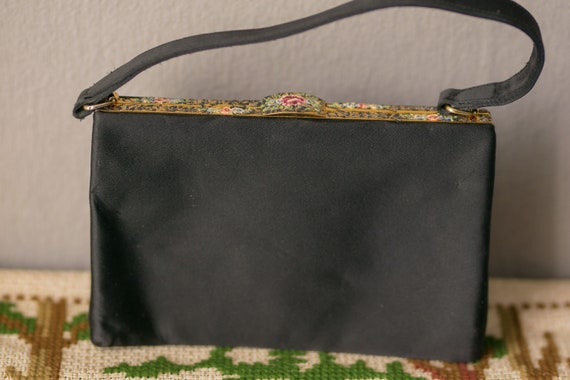 Vintage Exclusive Hand PAINTED Waldybag Black Hand