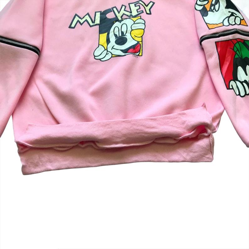 Mickey Mouse Crewneck Sweatshirt Mickey Sweater Mickey Mouse Big Logo Spellout Pullover Crewneck Sweatshirt Size M Pick!
