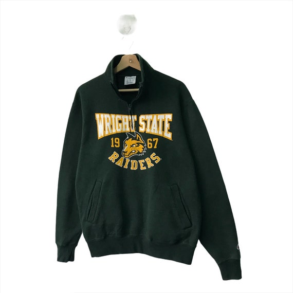 Pick!! Champion Wright State Zipped Up Crewneck Sw