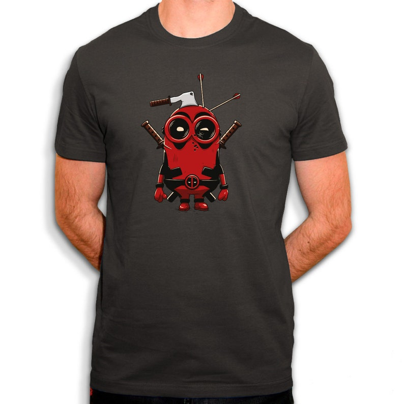 BIO Cotton T-shirt Deadpool Minion Parody Me Ugly and Villain
