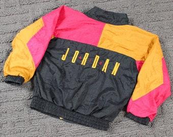 Vintage Nike Jacket / 90s Color Block Windbreaker Coat / Swoosh Logo