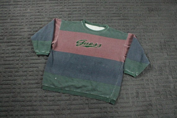 Guess USA Stripe Sweater / Vintage Guess Jeans Log
