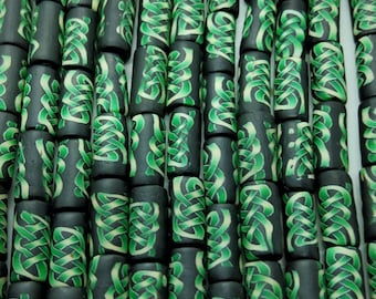 New  Tube Shaped Polymer Clay Fimo  Beads Size 12mm.