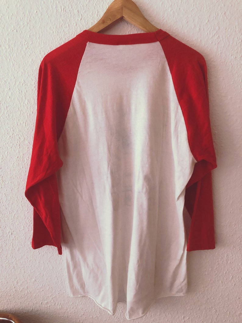 Hanes Made in USA 5050 Vintage 90s US Army FJ Jackson Longsleeve Shirt white red size xl