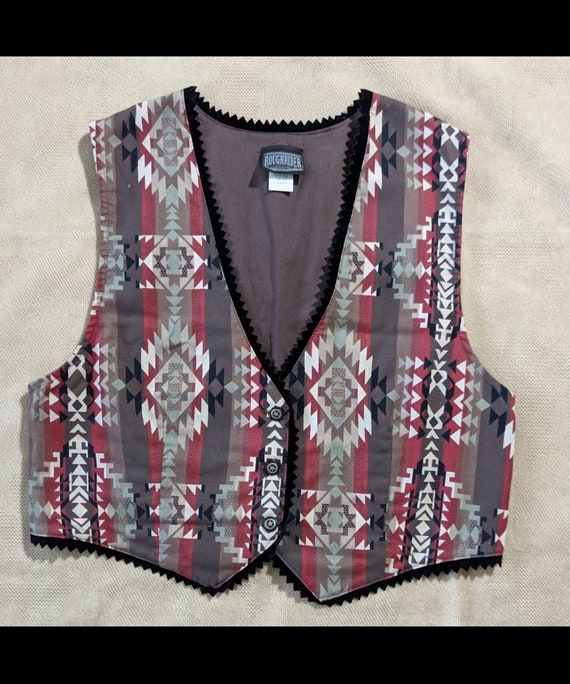 Rough Rider Vintage Vest Western wear size Large