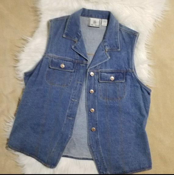 Vintage Jean Vest Bill Blass