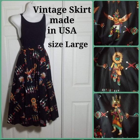 Full Circle Skirt Southwestern Print