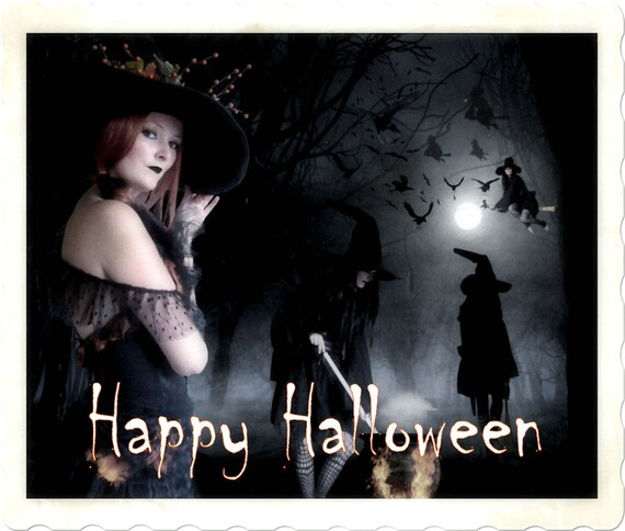 Have A Witch-full Halloween Greeting Card